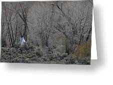Solitary Tipi Greeting Card