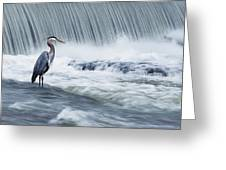 Solitude In Stormy Waters Greeting Card