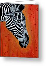 Solitude In Stripes Greeting Card by Tai Taeoalii