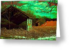 Solitude On The Backroads In Neon Greeting Card