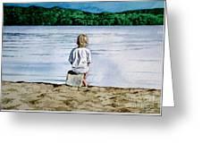 Solitude Upon The Lake Greeting Card