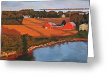 Solomons Red Barn At Sunset Greeting Card