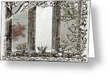 Solorised Pillars Greeting Card