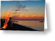 Solstice Bonfire Greeting Card