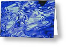 Solvent Blue Greeting Card