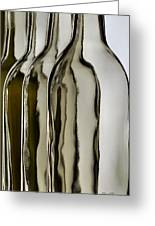 Somber Bottles Greeting Card