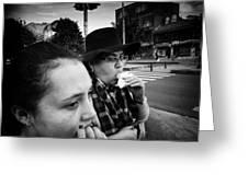 Sombrero Woman Greeting Card
