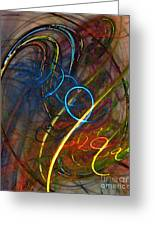 Some Critical Remarks Abstract Art Greeting Card