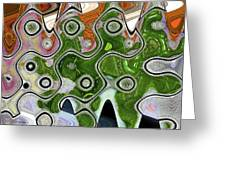 Some Pink And Green Abstract Greeting Card