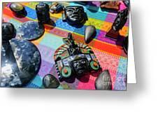 Some Special Dark Black Rocks Greeting Card