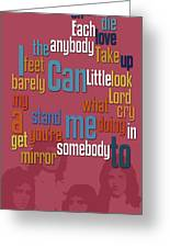 Somebody To Love. Queen. Typography Art. Gift For Music Fans Greeting Card