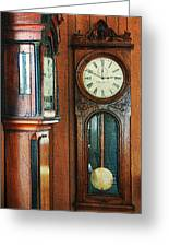 Somebodys Grandfathers Clocks Greeting Card