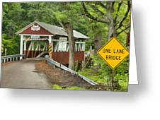 Somerset Backroad Crossing Greeting Card