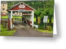 Somerset Burholder Covered Bridge Greeting Card