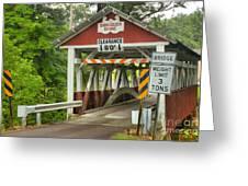 Somerset County Burkholder Covered Bridge Greeting Card