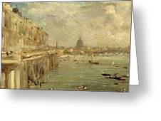 Somerset House Terrace From Waterloo Bridge Greeting Card by John Constable
