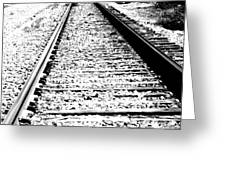Something About The Railroad Tracks Greeting Card