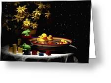 Sometimes Late At Night Greeting Card by Tom Mc Nemar