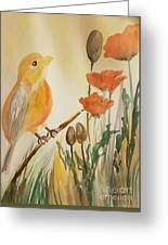 Somewhere In The Poppy Field Greeting Card