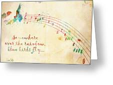 Somewhere Over the Rainbow Greeting Card by Nikki Smith