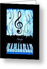 Songs - Blue Greeting Card