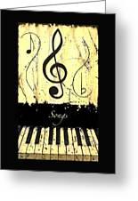 Songs - Yellow Greeting Card
