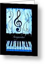 Songwriter - Blue Greeting Card