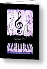Songwriter - Purple Greeting Card