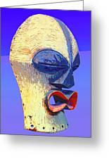 Songye Kifwebe Mask Greeting Card