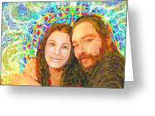 Sonia Marie And Her Sweetheart Greeting Card