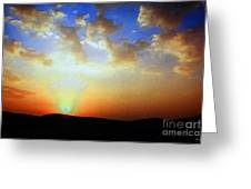 Sonnenuntergang 17052 Greeting Card