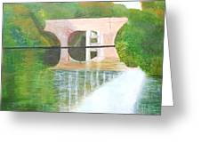Sonning Bridge In Autumn Greeting Card