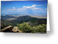 Sonoran Hillside Lookout Greeting Card