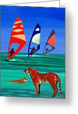 Tigers Sons Of The Sun Greeting Card