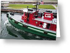 Soo Tug Boat Greeting Card