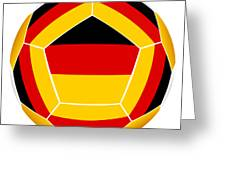 Soocer Ball With Germany Flag Greeting Card