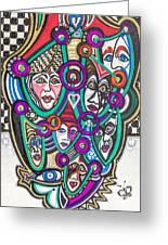 Sooooooo Many Faces Greeting Card