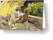 Sorolla: Painter, 1907 Greeting Card
