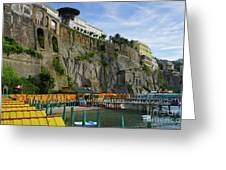 Sorrento Beach Greeting Card