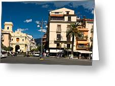 Sorrento Italy Piazza Greeting Card