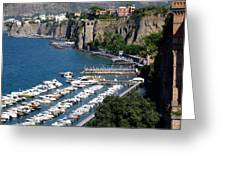 Sorrento Seaport Greeting Card