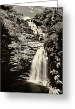 Sossego Waterfall Greeting Card