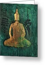 Sotapanna 1 Buddha Painting With Unalome Symbols Greeting Card