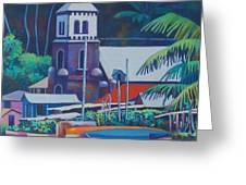 Soufriere Church Tower Greeting Card
