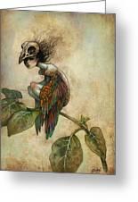 Soul Of A Bird Greeting Card by Caroline Jamhour