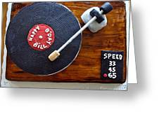 Record Player Cake Greeting Card