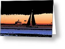 Sound Sailin 2 Greeting Card