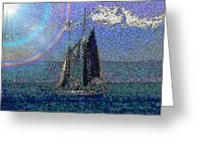Sound Sailin 5 Greeting Card