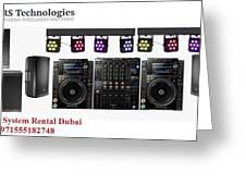 Sound System Rental Dubai - Rent,lease,hire Sound System Dubai Greeting Card