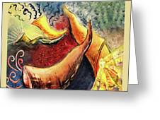 Sounds Of The Shofar Greeting Card